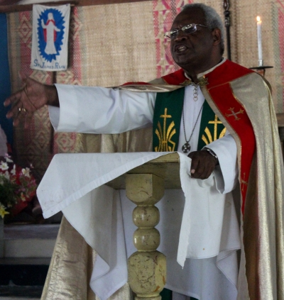 A sermon by Bp Sahu at Luaniua