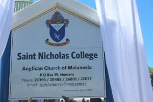 Unveiling of St. Nicholas sign board