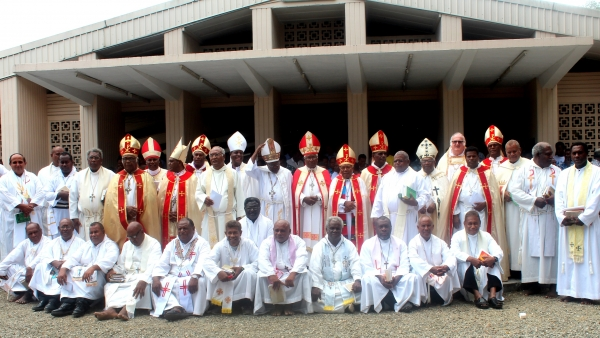 Bishops and Priests after the serevice