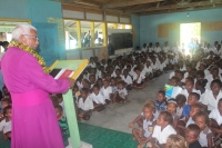 Archbishop David at Vaturanga Primary School, West Guadalcanal.