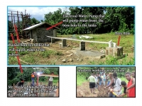 Pamua water source near completion